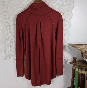 Free People Tops - Free People rust red high low thermal top